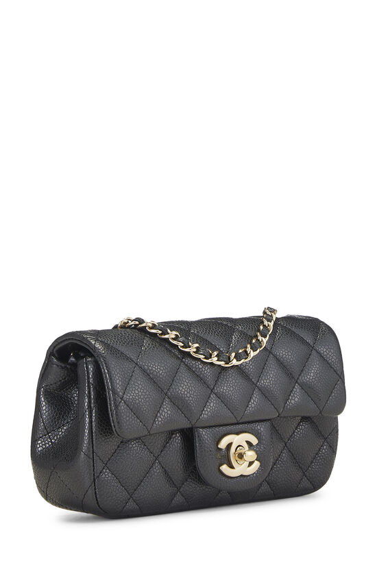 Grey Quilted Caviar Half Flap Extra Mini, , large image number 1
