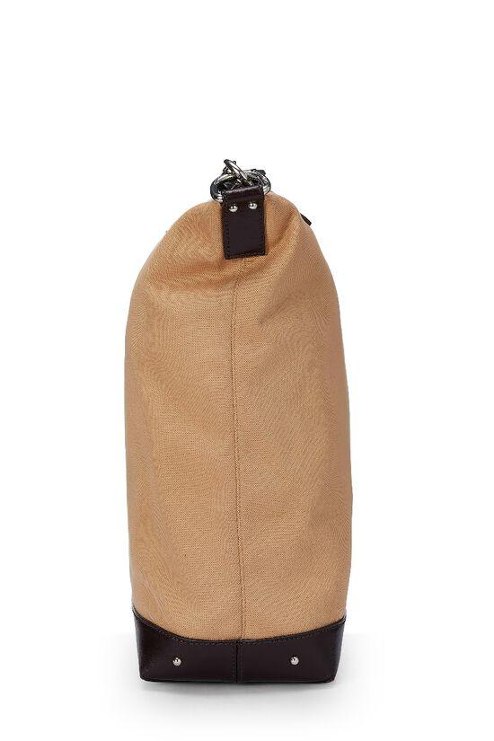 Beige Canvas Shoulder Bag, , large image number 2