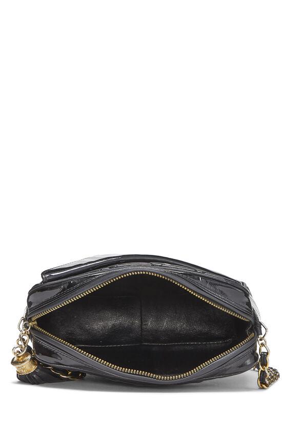 Black Patent Leather Diagonal Camera Bag Small, , large image number 5