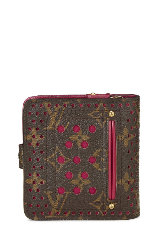 Pink Monogram Canvas Perforated Zippy Compact, , large image number 2