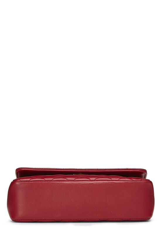 Red Quilted Lambskin Half Flap Mini, , large image number 5