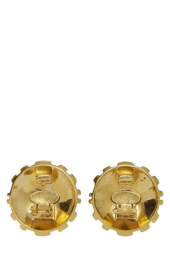 Gold Woven CC Earrings, , large image number 2