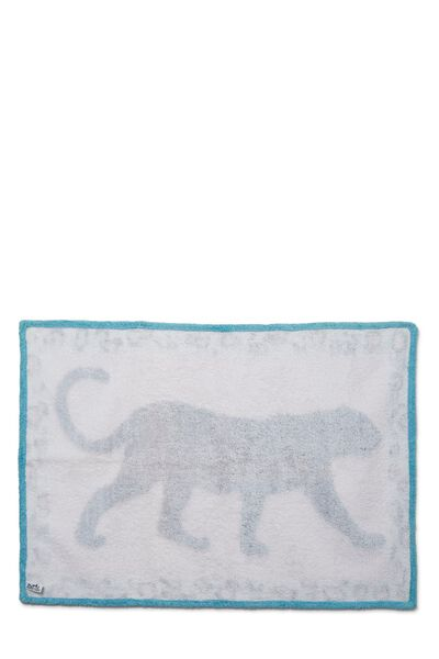 Blue & Pink Terry Cloth Panther Towel, , large