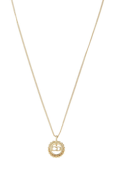Gold Logo Necklace Small, , large
