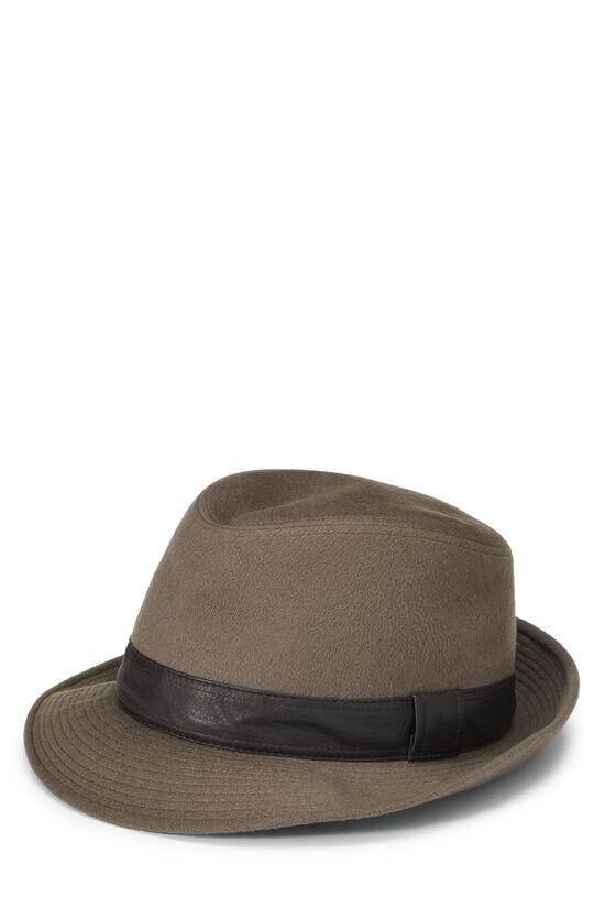 Grey Cashmere Fedora, , large image number 1