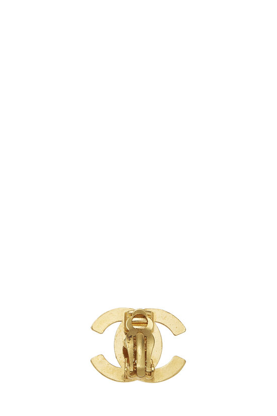 Gold 'CC' Turnlock Earrings Medium, , large image number 2