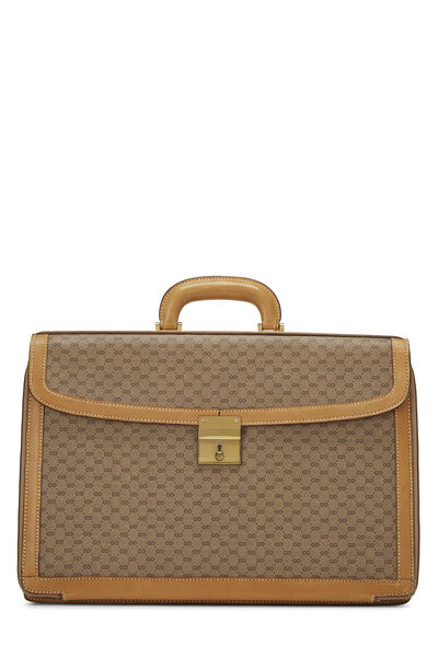 Beige GG Coated Canvas Briefcase