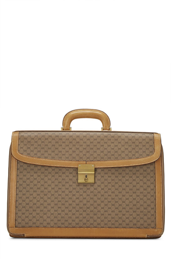 Beige GG Coated Canvas Briefcase, , large image number 0