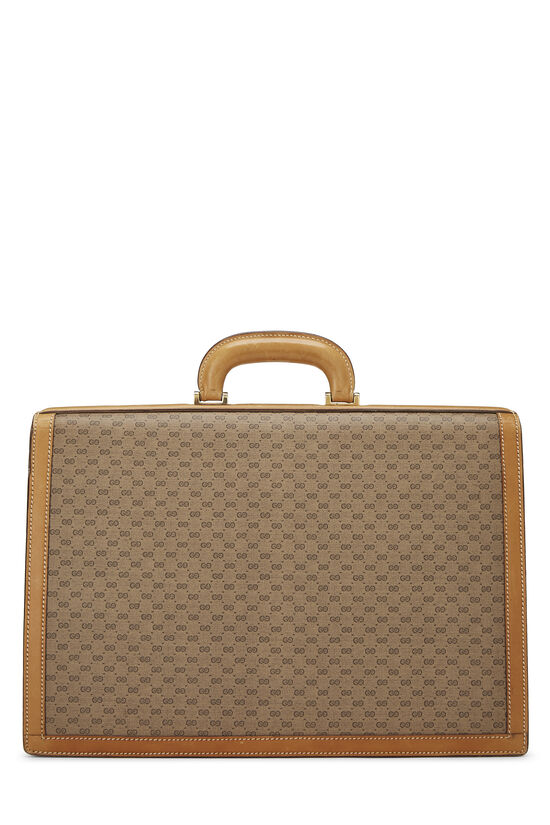 Beige GG Coated Canvas Briefcase, , large image number 3