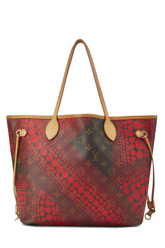 Yayoi Kusama x Louis Vuitton Red Monogram Dots Infinity Neverfull MM, , large image number 0