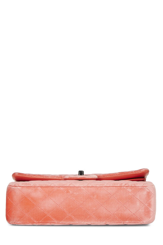 Coral Quilted Velvet Classic Double Flap Medium, , large image number 4