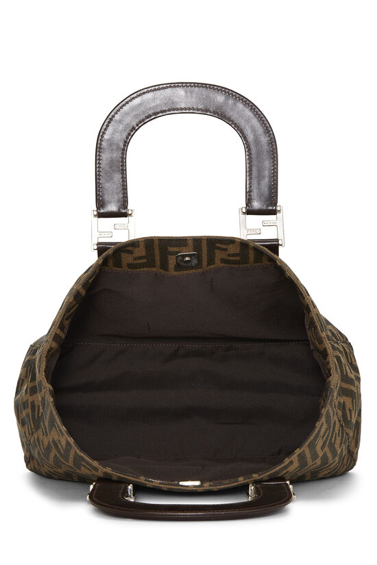 Brown Zucca Canvas Handbag Small, , large image number 5