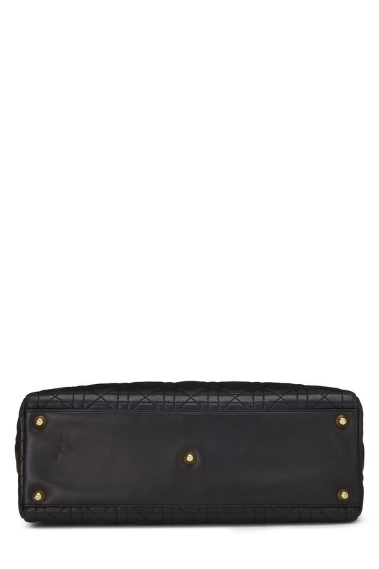 Black Cannage Quilted Lambskin Lady Dior Large, , large image number 4