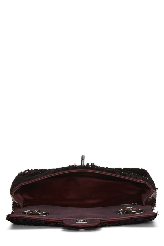 Burgundy Sequin Half Flap Small, , large image number 5