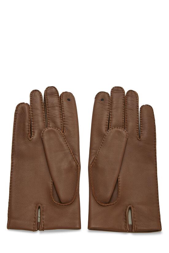 Brown Lambskin Gloves, , large image number 1