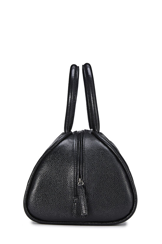 Black Quilted Caviar Bowler Mini, , large image number 2