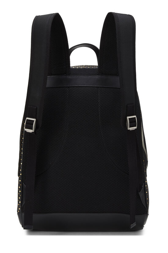 Black Leather Guccy Moon & Stars Magnetismo Backpack, , large image number 3