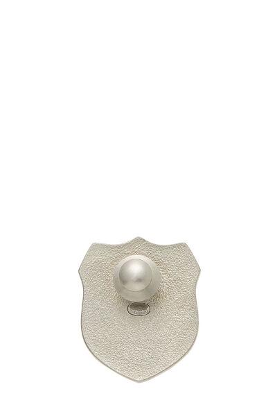 Multicolor Enamel 'CC' Shield Pin Small, , large