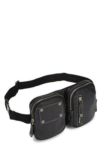 Black Leather Belt Bag, , large