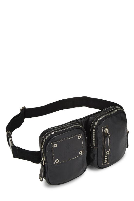 Black Leather Belt Bag, , large image number 1
