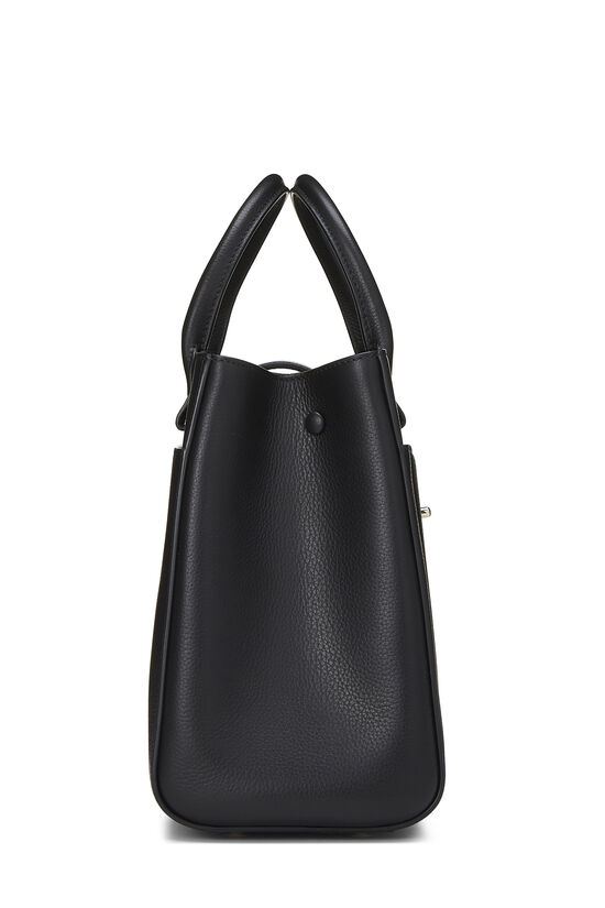 Black Leather Neo Executive Shopping Tote, , large image number 3