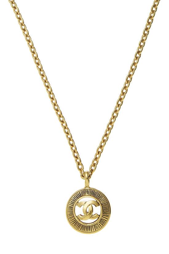 Gold 'CC' Sunburst Necklace, , large image number 1