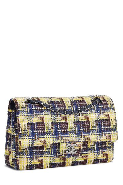 Multicolor Tweed Classic Double Flap Medium, , large