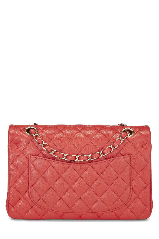 Red Quilted Caviar Classic Double Flap Small, , large image number 3