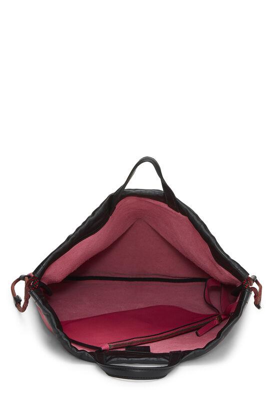 Pink Leather Drawstring Backpack Large, , large image number 5