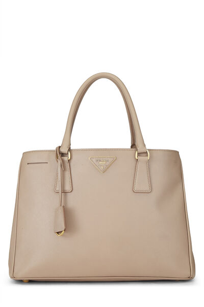 Pink Saffiano Leather Tote