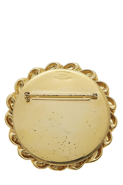 Gold & Silver 'CC' Pin Large, , large