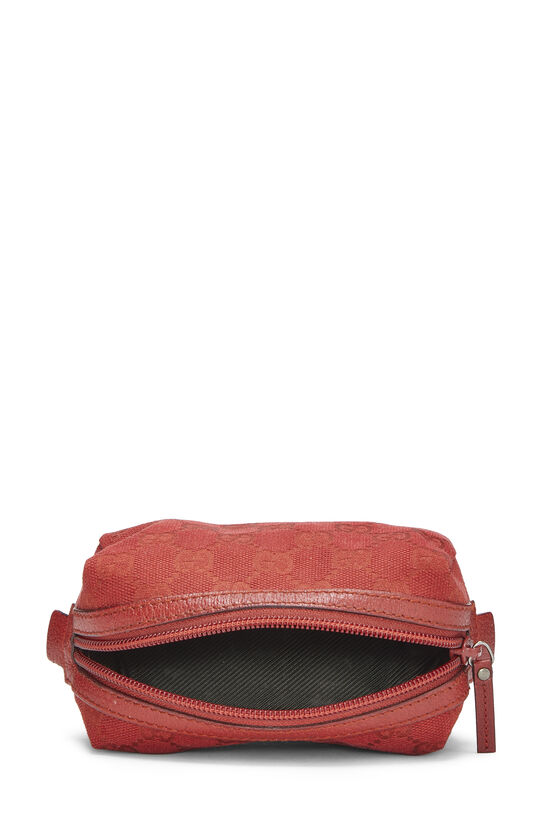 Red GG Canvas Cosmetic Pouch Small, , large image number 3