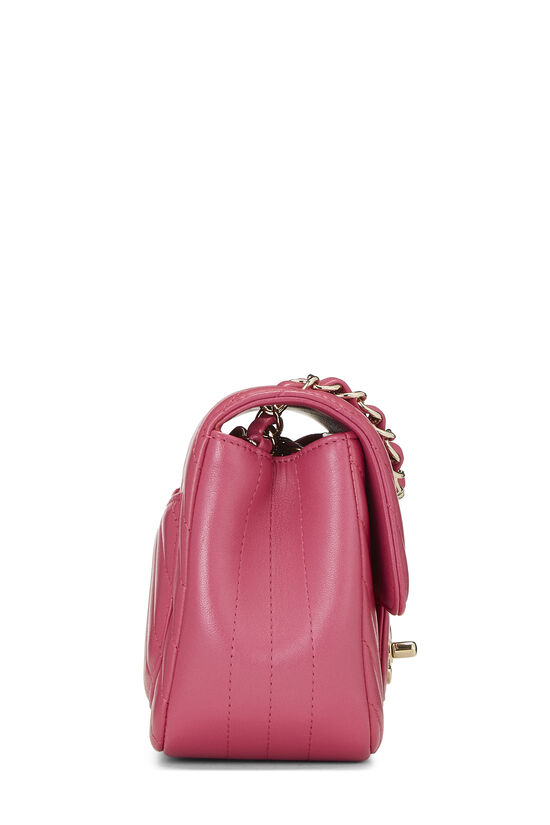 Pink Quilted Lambskin Classic Square Flap Mini, , large image number 2
