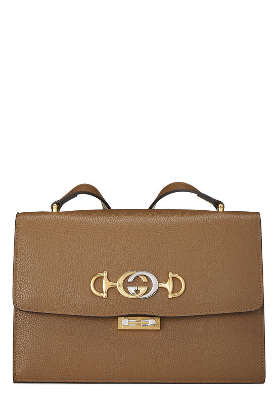 Brown Leather Zumi Shoulder Bag Small, , large image number 0