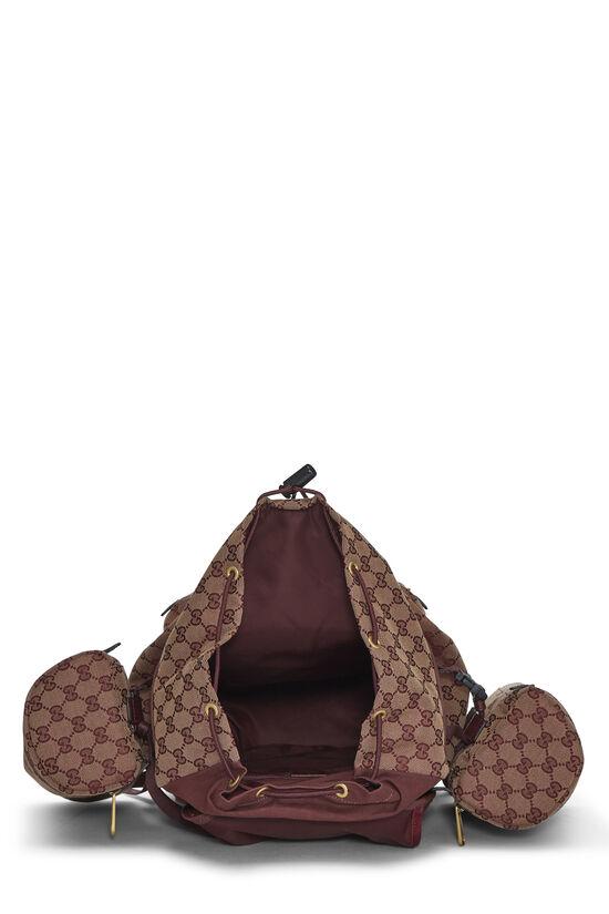 Burgundy GG Canvas Backpack Large, , large image number 5