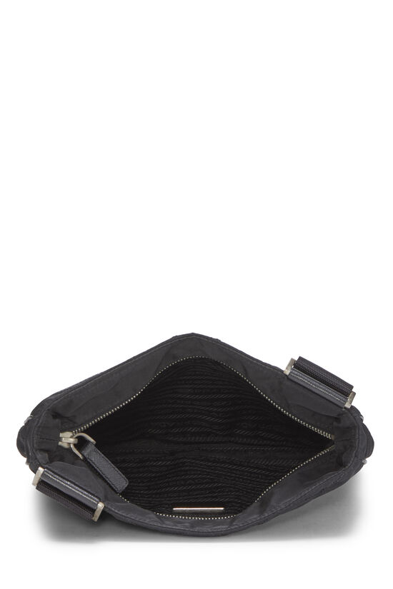 Black Quilted Nylon Flat Crossbody Small, , large image number 5