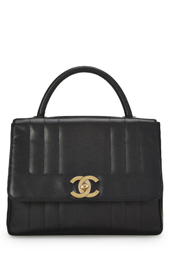 Black Vertical Caviar Kelly , , large image number 0