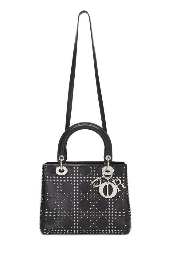 Black Cannage Studded Lambskin Lady Dior Medium, , large image number 1