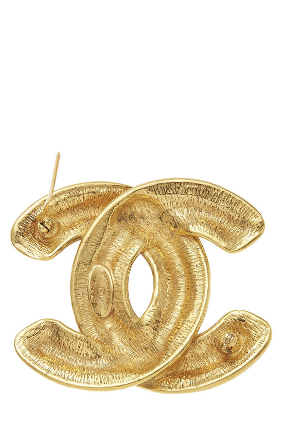 Gold Quilted 'CC' Pin Large, , large image number 2