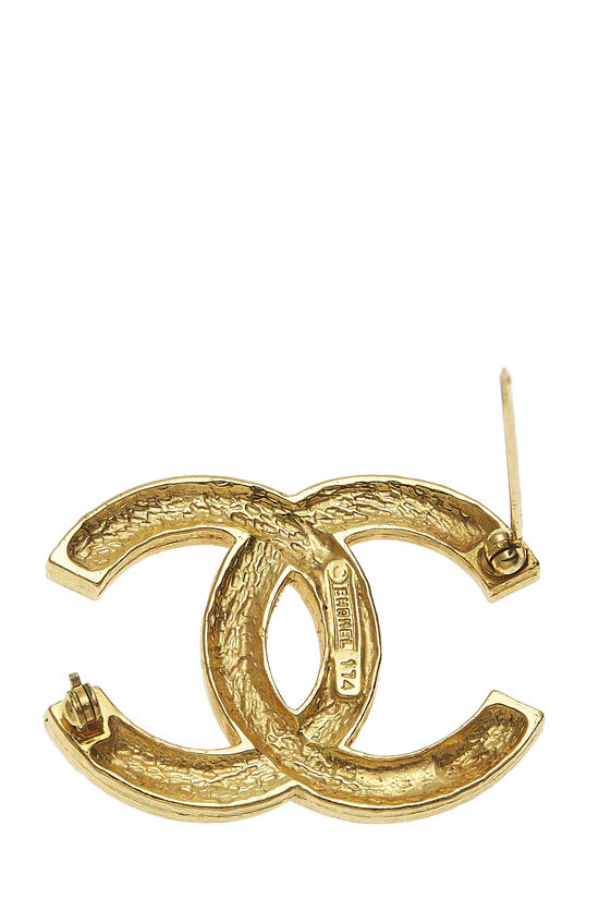 Gold Crystal 'CC' Pin, , large image number 2