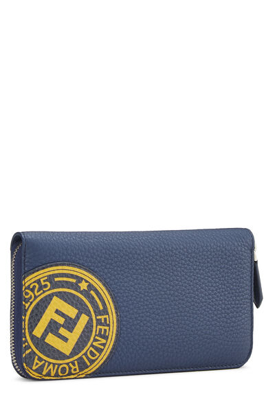 Navy Leather Forever Wallet, , large