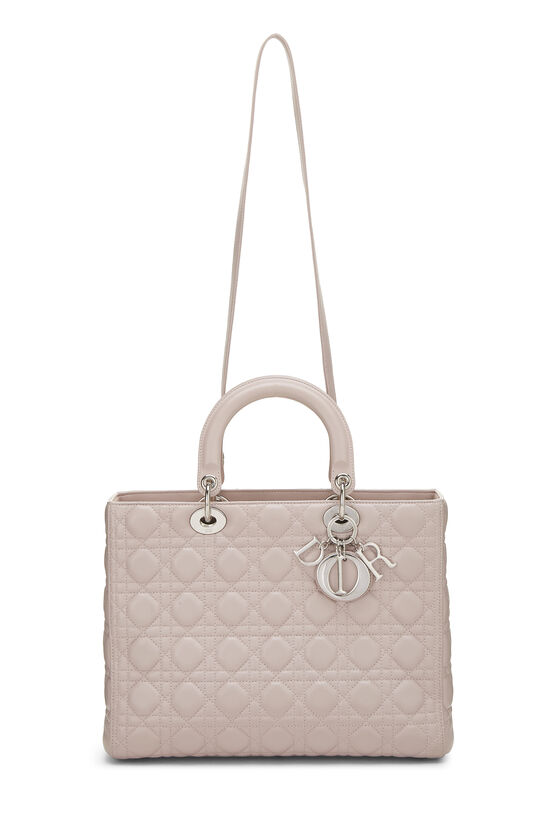 Pink Cannage Quilted Lambskin Lady Dior Large, , large image number 6