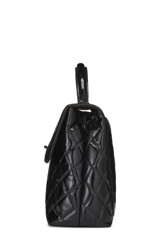 Black Quilted Patent Leather Kelly Jumbo, , large image number 2