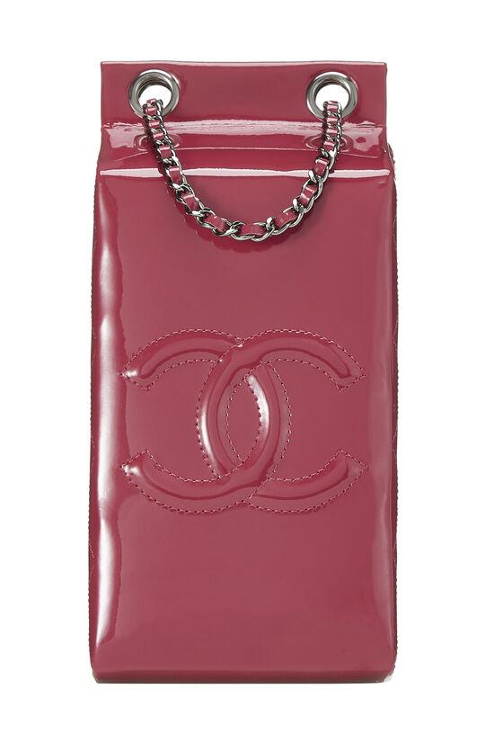 Pink Patent Leather Milk Carton Bag, , large image number 3