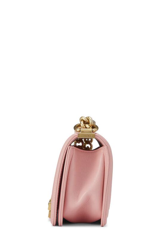 Pink Chevron Lambskin Boy Bag Small, , large image number 3