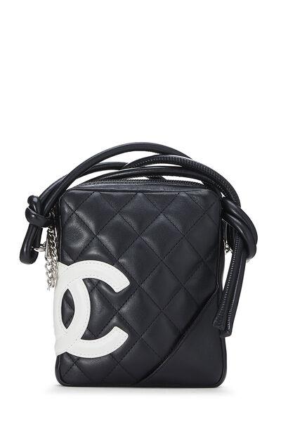 Black Quilted Calfskin Cambon Shoulder Bag Mini