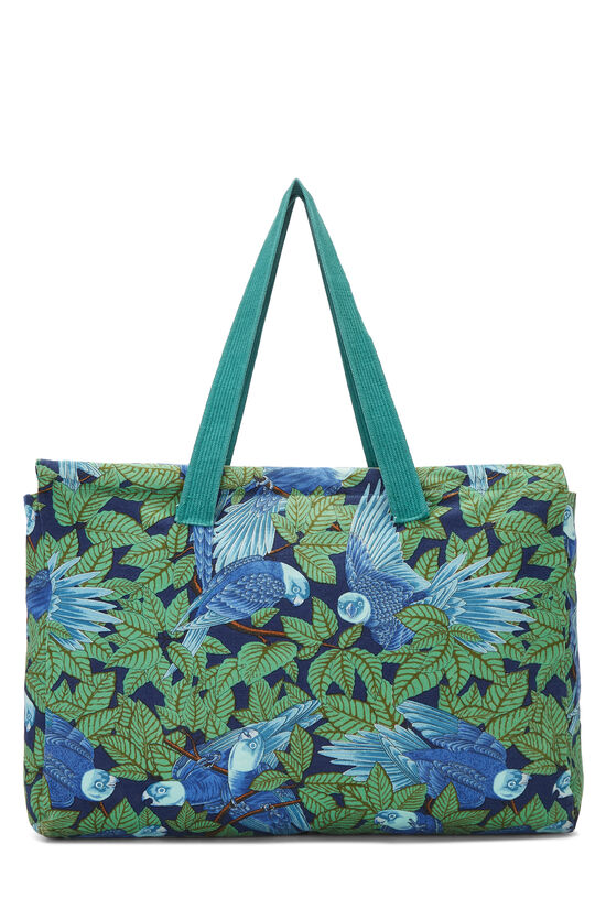 Green & Blue Tropical Canvas Tote, , large image number 3