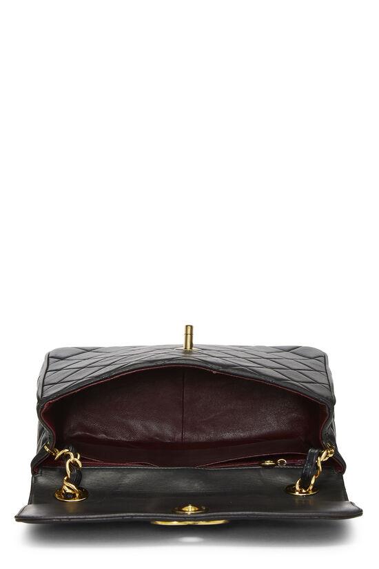 Black Quilted Lambskin 'CC' Square Shoulder Bag, , large image number 6