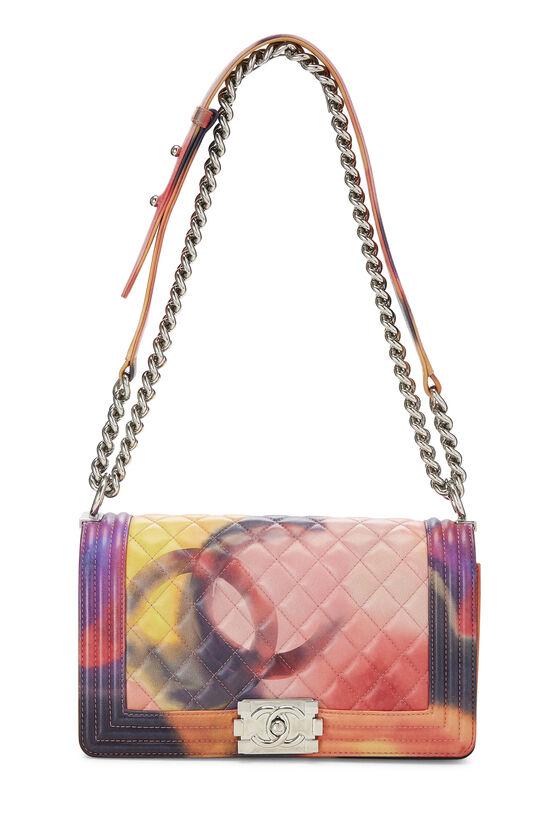 Multicolor Quilted Lambskin Flower Power Boy Bag Medium, , large image number 1