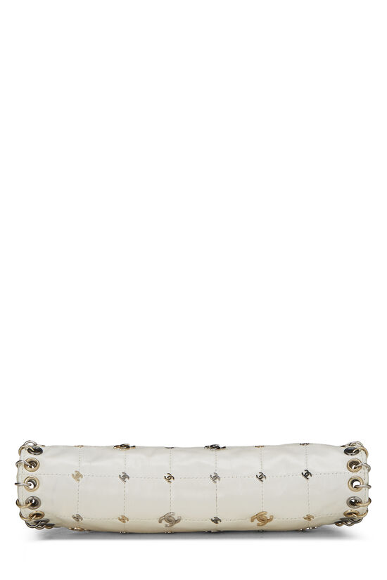 White Calfskin Punk Timeless Clutch, , large image number 4